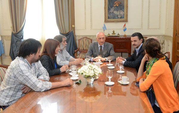 El gobernador de la provincia recibió a las autoridades del Sindicato de Prensa.
