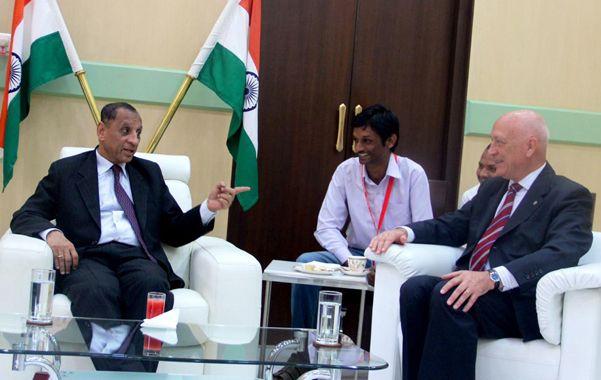 Cumbre. El gobernador Antonio Bonfatti junto a su par de Andhra Pradesh