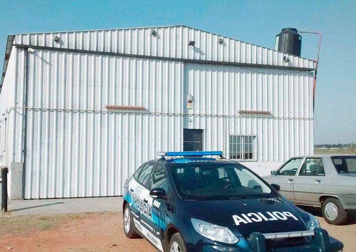 Galpon. La Policía Federal actuó tras un llamado al Ministerio de Seguridad.