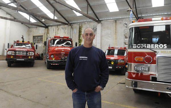 Un bombero con años de vocación. Marquesini integra el grupo especial de búsqueda y rescate Usar de Santa Fe.