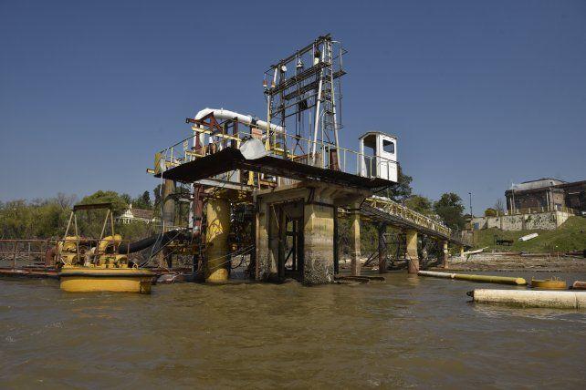 La toma de agua ubicada en la zona norte de Rosario.