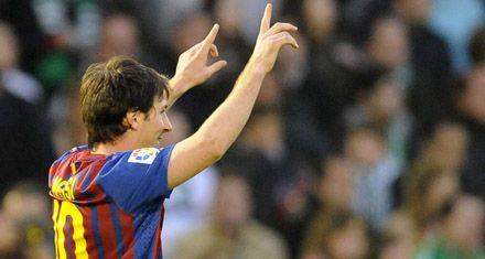 Messi marcó dos y continúa festejando en la liga española