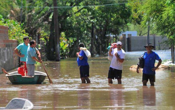 Bajo agua. La Vuelta del Paraguayo