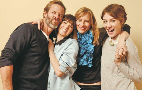 """Guy Pearce junto a las actrices de """"Breathe In"""""""