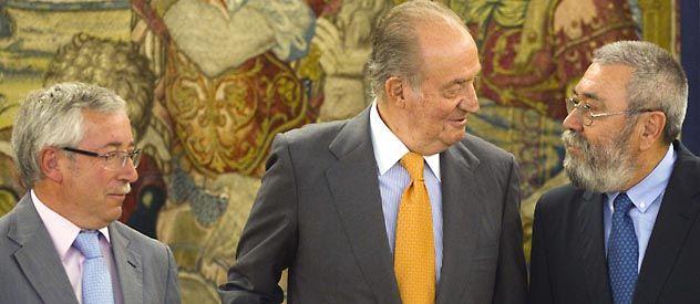 Los líderes de los dos grandes sindicatos de España