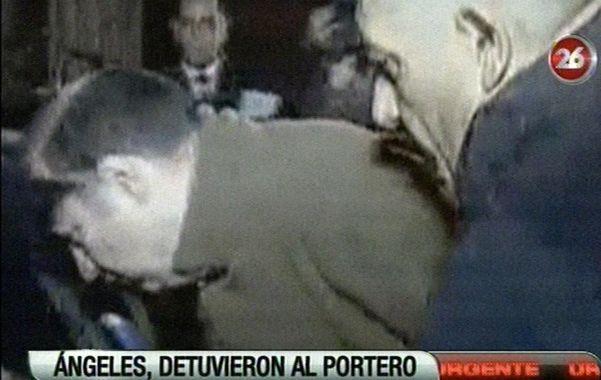 La detención. El portero Jorge Mangeri