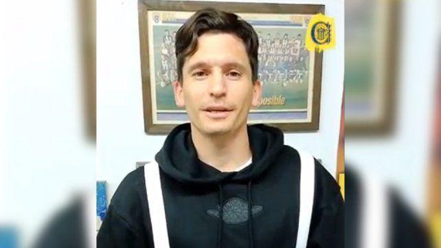 El chileno se despidió de los hinchas canallas con un video.