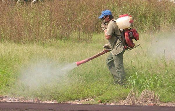 Freno. Se apunta a que nadie fumigue en espacios verdes como modo de control químico de la vegetación.