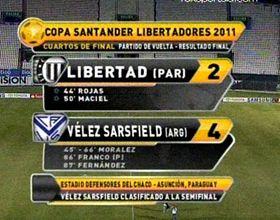 Vélez no pasó sobresaltos en la revancha con Libertad y ya está en semifinales