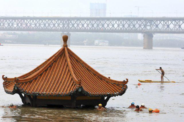 Inundaciones provocadas por el río Yangtsé