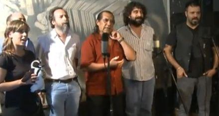 Músicos y actores graban una canción en homenaje a Néstor Kirchner