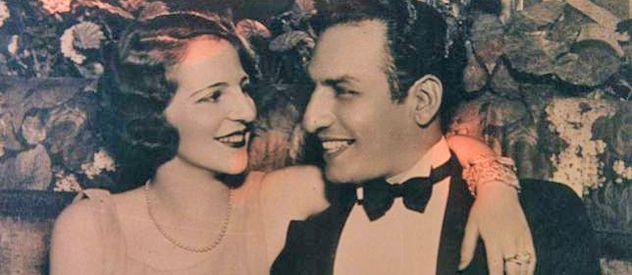 Stefford junto a su escandaloso y millonario marido. La vida loca que llevaban los hacía más famosos. Se conocieron en Europa.