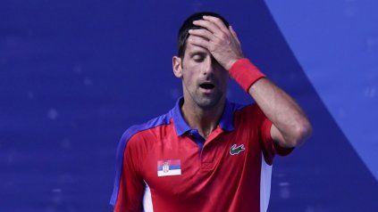 Novak Djokovic, número uno del mundo, cayó este sábado en el partido por la medalla de bronce con el español Pablo Carreño Busta.