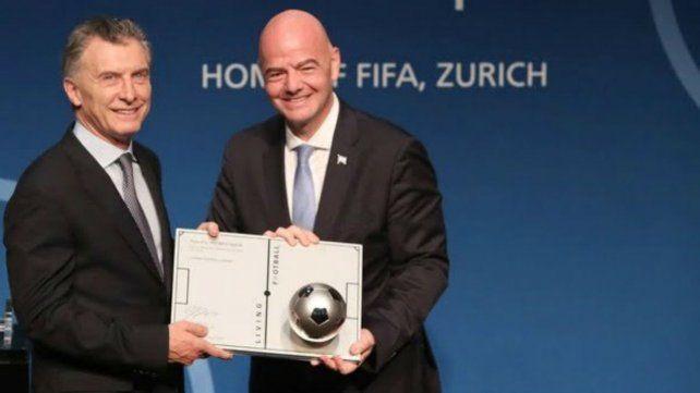 Macri fue designado presidente ejecutivo de la Fundación FIFA