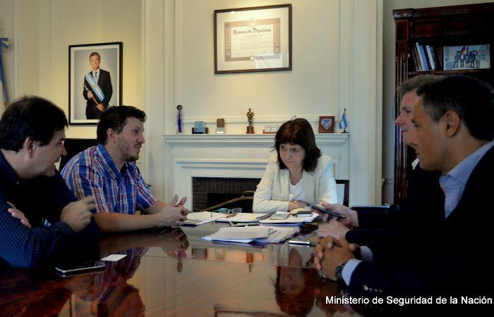 La ministra Patricia Bullrich recibió a los diputados nacionales santafesinos Ricardo Spinozzi y José Nuñez