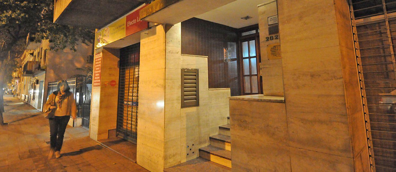 El edificio de Montevideo 2026 donde tiene su estudio el abogado atacado a tiros la tarde de ayer.