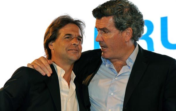 Alianza. Bordaberry (der.) anunció el domingo que apoyará a Lacalle Pou.