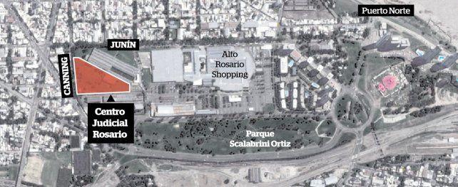 Dónde funcionará el futuro Centro Judicial Rosario.