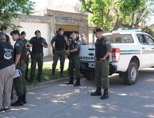Gendarmería mantiene una presencia de efectivos en Gálvez