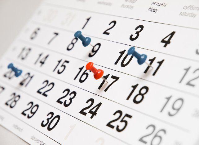 Se difundieron las posibles fechas para los feriados puente de 2018