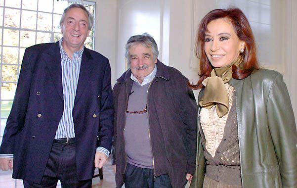 Buena sintonía. La llegada al poder Mujica ayudó a los Kirchner a descomprimir algunos conflictos con Uruguay.