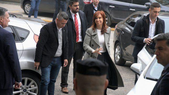 Cristina llegó asistir a la segunda jornada de la causa Vialidad