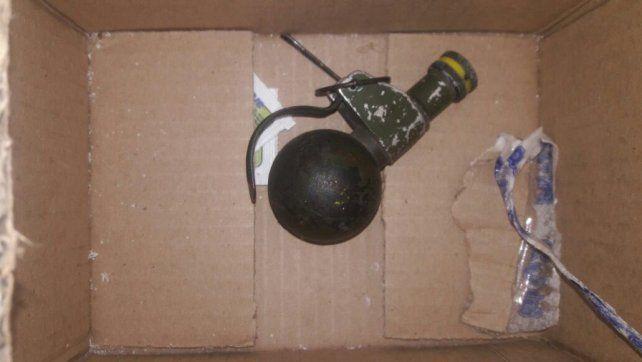 La granada fue dejada a metros de la casa de la jueza.