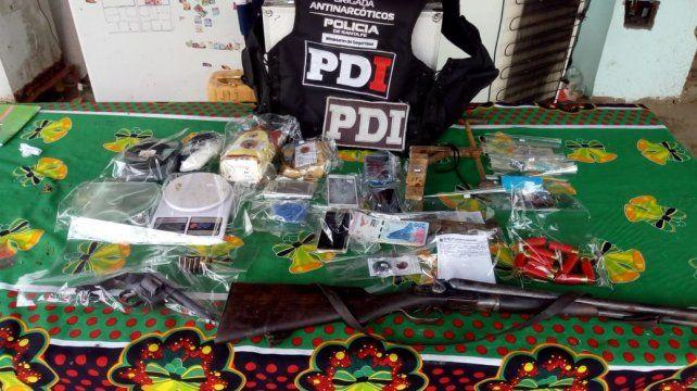 Cuatro detenidos y secuestro de drogas en varios allanamientos