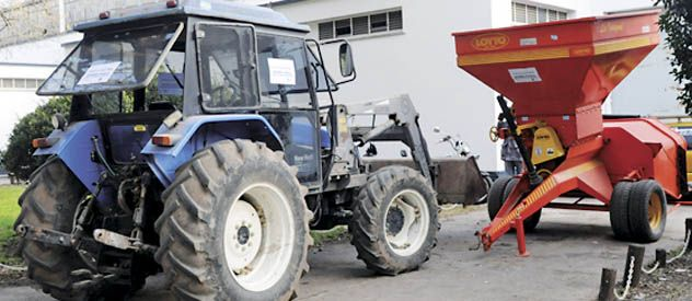 La maquinaria agrícola recuperada está valuada en $ 500 mil.