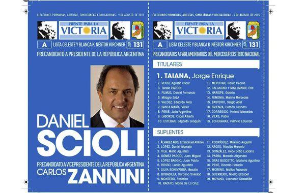 espera las urnas. La boleta es azul y lleva los candidatos al Parlasur.