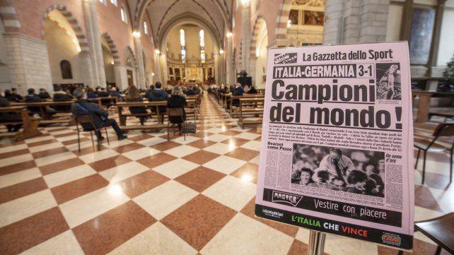 Una imagen de la portada de La Gazzetta dello Sport recordando el título de Italia en el Mundial de España