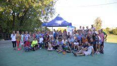 Gran clima. La tarde del martes en la capital entrerriana sirvió para que los representantes de la tercera edad tuvieran un festejo junto a sus amigos del deporte.