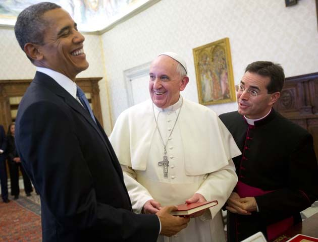 Francisco y Obama esta mañana en El Vaticano. (Foto: Reuters)