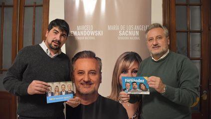 Matías Fernández, precandidato a concejal por el peronismo, junto al postulante al Senado nacional Marcelo Lewandowski