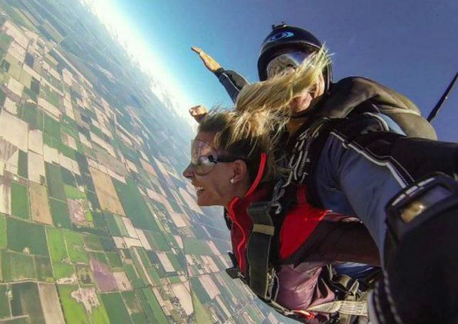 Noelia Marzol vivió la experiencia de volar.