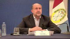 El gobernador Omar Perotti ofreció una conferencia de prensa para anunciar las nuevas medidas por la pandemia de coronavirus.