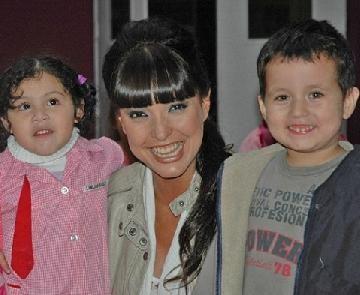 Andrea Estévez saludó a los chicos de Fundamind