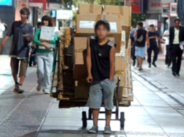 El trabajo infantil está penado a nivel nacional y provincial.