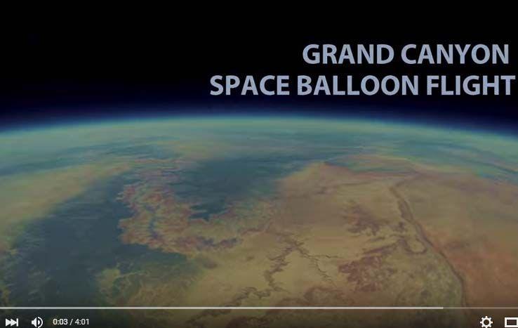 La cámara fue lanzada con un globo meteorológico en 2013.