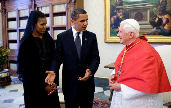En la Santa Sede. Obama y su esposa Michelle durante el encuentro con Benedicto XVI en julio de 2009.