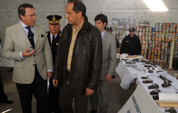 Fiel. El ministro Casal lo ve a su jefe Scioli en las mejores condiciones.