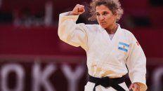Paula Pareto hizo todo lo que pudo en el tatami del Nippon Budokan. Se retiró con diploma olímpico y la emoción a flor de piel.