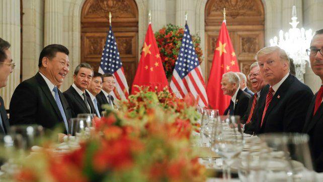 Tregua. Trump y Xi Jinping durante la cumbre bilateral en el G-20 de Buenos Aires en diciembre pasado.