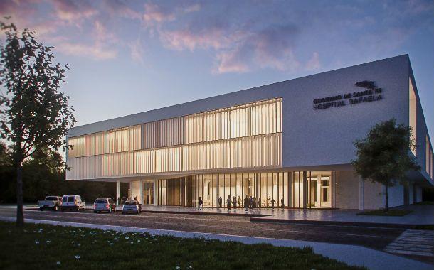 A futuro. La maqueta de lo que será el nuevo centro asistencial