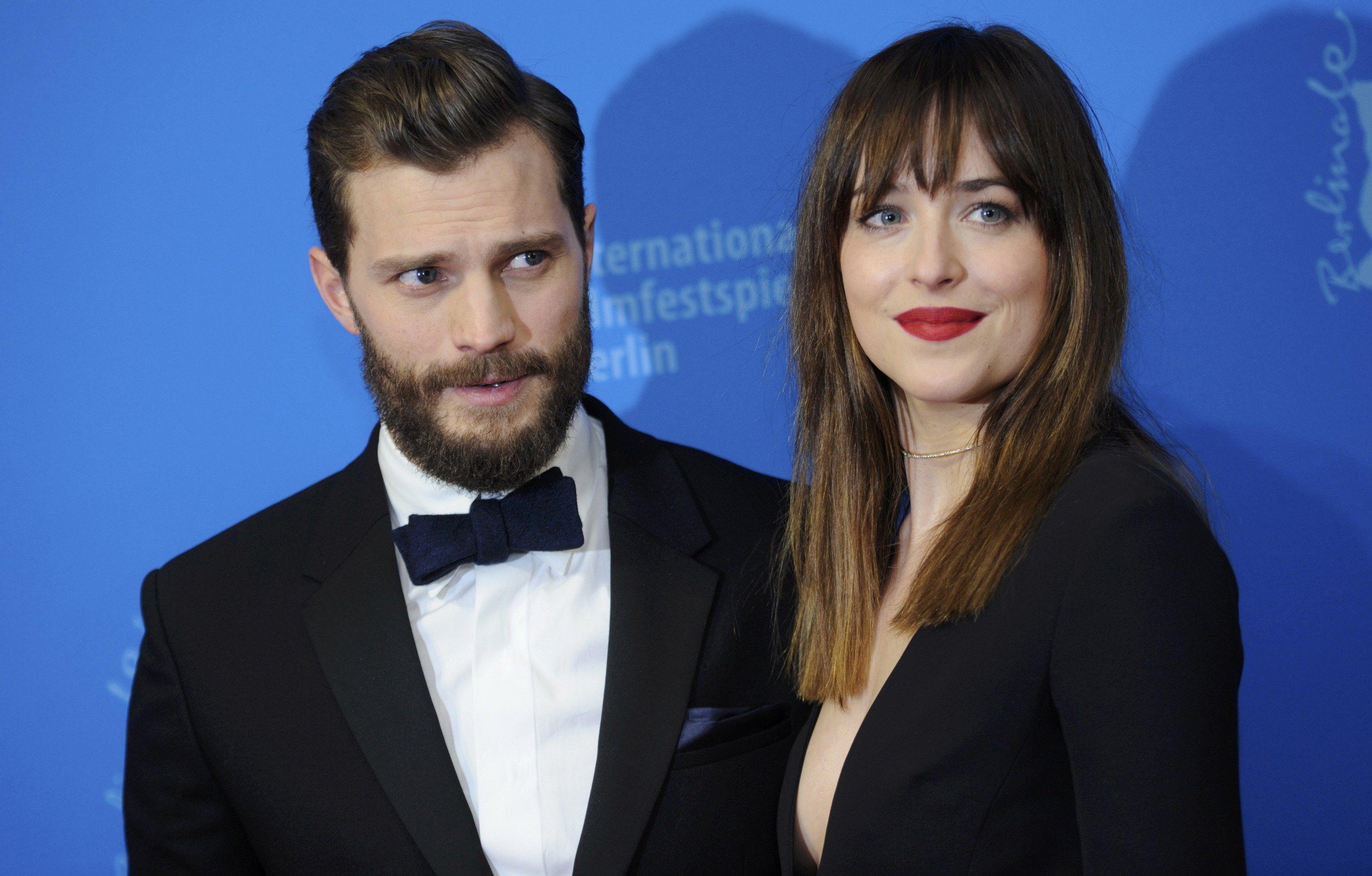 Jamie Dornan y Dakota Johnson le dan vida a la pareja protagonista del filme de Sam Taylor-Johnson.