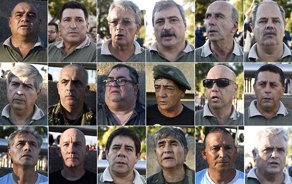 Veteranos. Los rostros de algunos de los ex combatientes que ayer asistieron al homenaje rendido en el Parque Nacional a la Bandera.