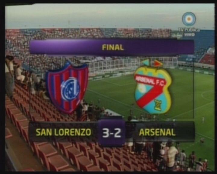 San Lorenzo lo dio vuelta contra Arsenal y quedó a un punto de la cima