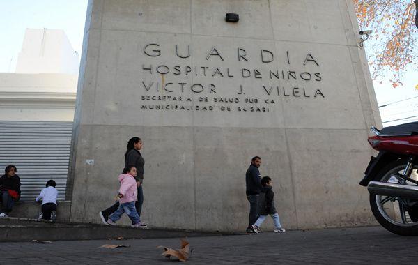 La nena fue internada en el hospital de niños Víctor J. Vilela. (foto archivo: Marcelo Bustamante)