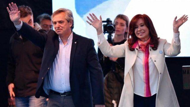 Llegaron. Alberto F y Cristina Kirchner el pasado 25 de mayo en su primera aparición pública como fórmula.