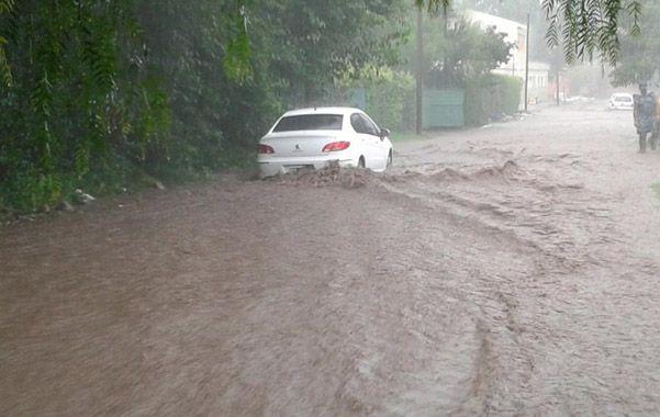 La imagen es de ayer cerca de las 18 en Villa Allende